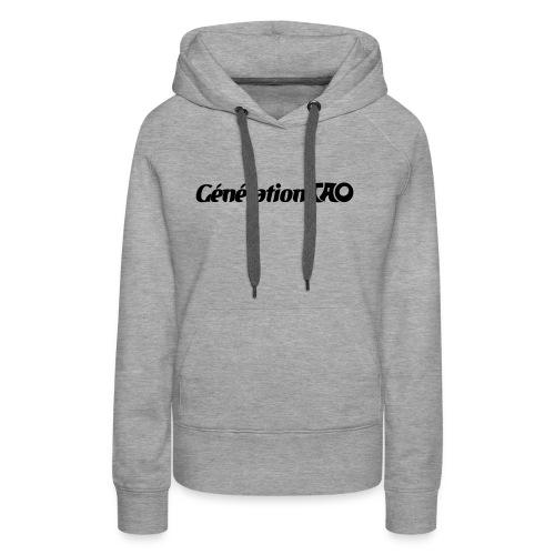 Génération Tao - Sweat-shirt à capuche Premium pour femmes