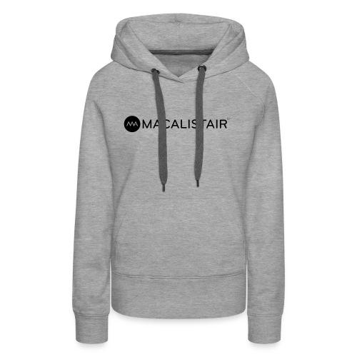 macalistair_logo+tekst - Vrouwen Premium hoodie