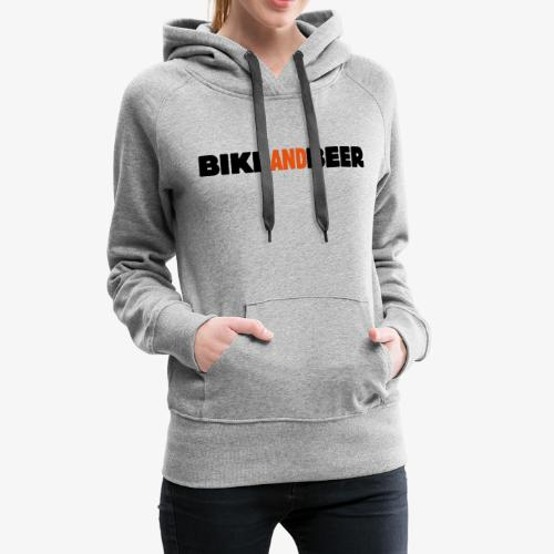 bike and beer banner - Sweat-shirt à capuche Premium pour femmes