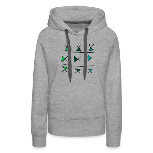 horizontaal verticaal - Vrouwen Premium hoodie
