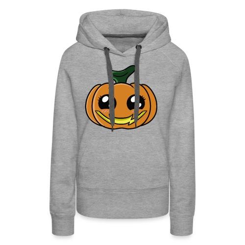 Citrouille d'Halloween Kawaii ! - Sweat-shirt à capuche Premium pour femmes