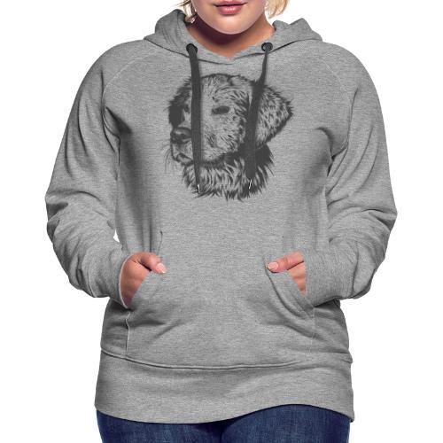 Perro dibujo - Sudadera con capucha premium para mujer