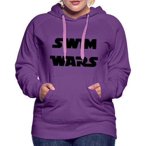 SWIM WARS - Felpa con cappuccio premium da donna