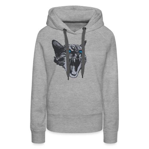 Really angry kitty cat - Women's Premium Hoodie