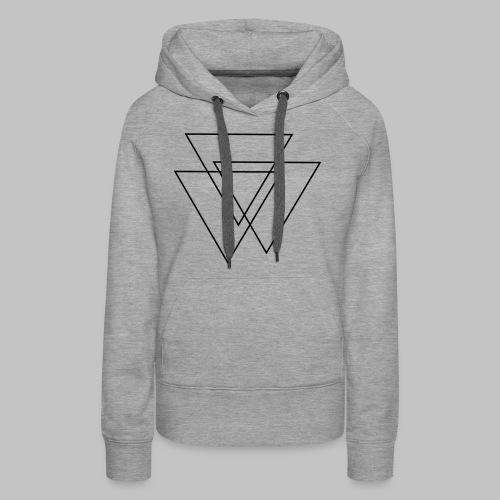 triangles Valknut - Women's Premium Hoodie