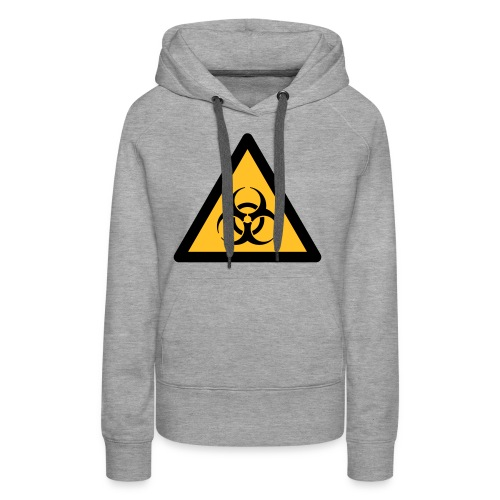 Hazard Symbol - Biohazard (2-color) - Women's Premium Hoodie