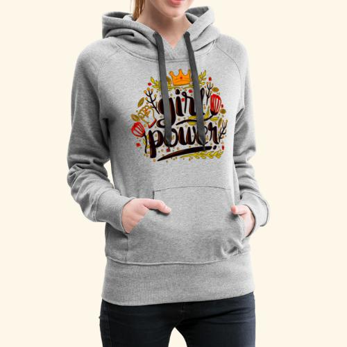 Girl Power - Sudadera con capucha premium para mujer