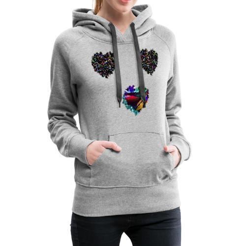 Heart - Sudadera con capucha premium para mujer