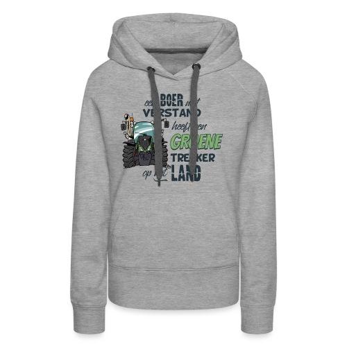 0195 Boer verstand F - Vrouwen Premium hoodie