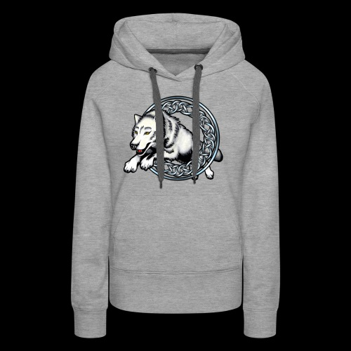 Leaping Wolf - Women's Premium Hoodie