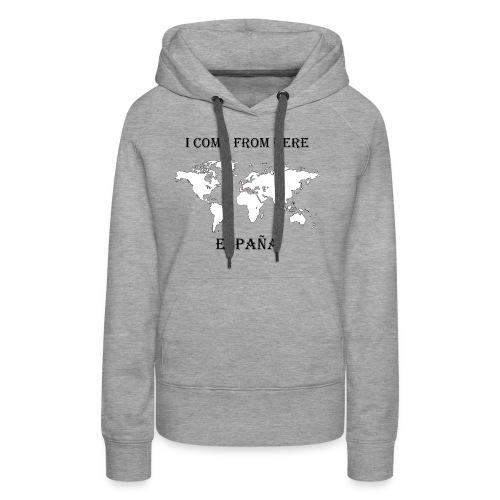 España-blanc - Sweat-shirt à capuche Premium pour femmes