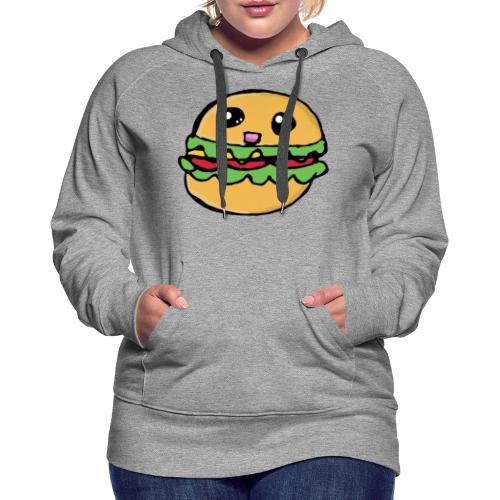 Hamburger kawai - Sweat-shirt à capuche Premium pour femmes