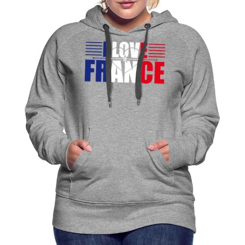 love france - Sweat-shirt à capuche Premium pour femmes