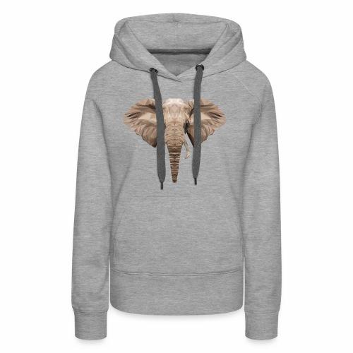 Low Poly Elephant - Felpa con cappuccio premium da donna