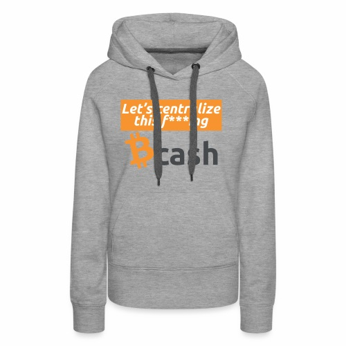 Bcash centralized - Felpa con cappuccio premium da donna