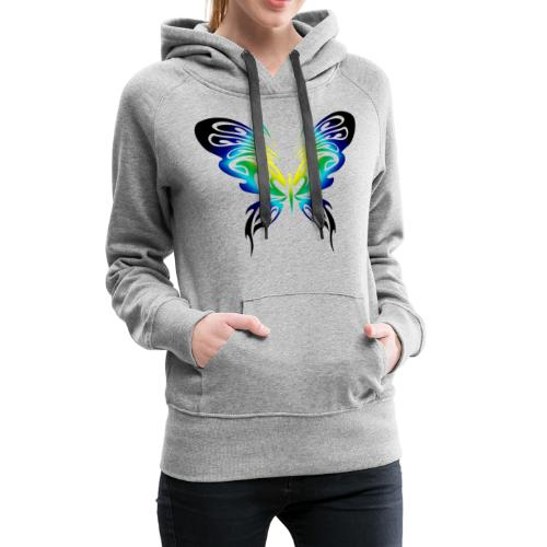 Motyl kolor - Bluza damska Premium z kapturem