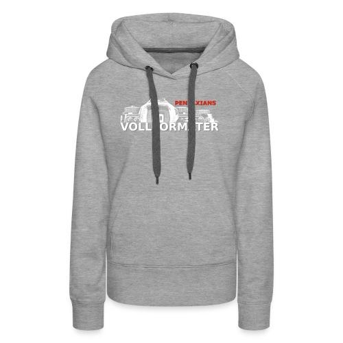 Pentaxians VOLLFORMATER white Logo - Frauen Premium Hoodie