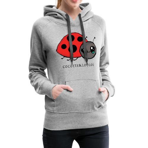 Pirouette la coccinelle - Sweat-shirt à capuche Premium pour femmes