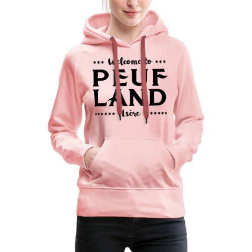 Peuf Land 38 - Isère - Black - Sweat-shirt à capuche Premium pour femmes