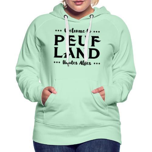 Peuf Land 05 - Hautes-Alpes - Black - Sweat-shirt à capuche Premium pour femmes