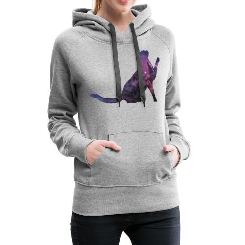 Space Cat - Frauen Premium Hoodie