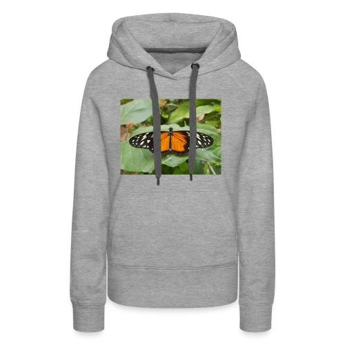 Joli papillon - Sweat-shirt à capuche Premium pour femmes