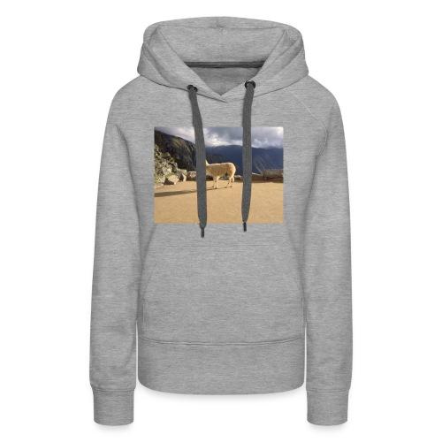 Lama la grace et la classe - Sweat-shirt à capuche Premium pour femmes