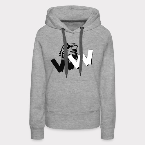 White and Black W with eagle - Women's Premium Hoodie