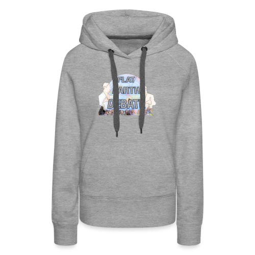 Flat Earth Debate Cartoon - Women's Premium Hoodie