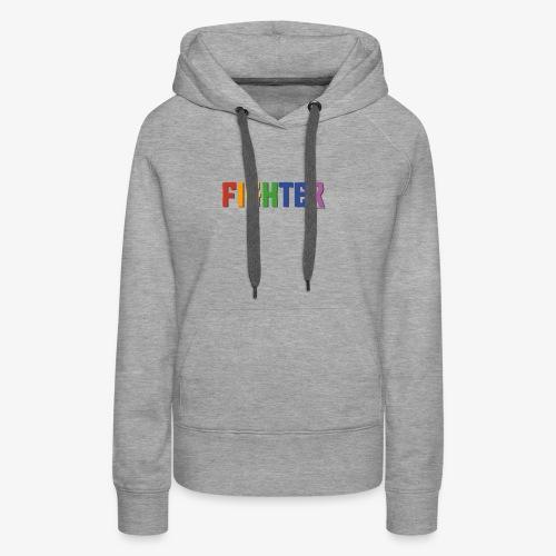 Fighter Pride (Rainbow) - Women's Premium Hoodie