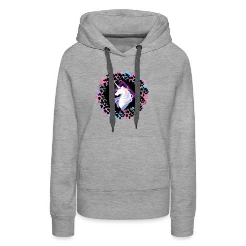 licorne couronne feuille - Sweat-shirt à capuche Premium pour femmes