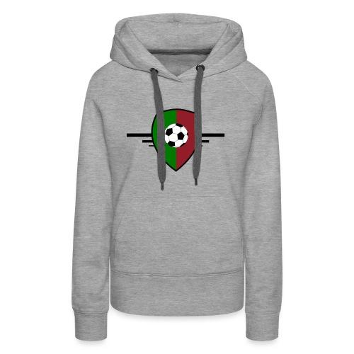 Portugal football - Sweat-shirt à capuche Premium pour femmes