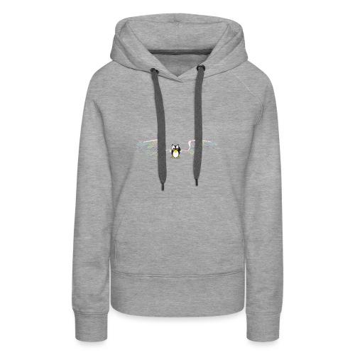 pingouin volant - Sweat-shirt à capuche Premium pour femmes