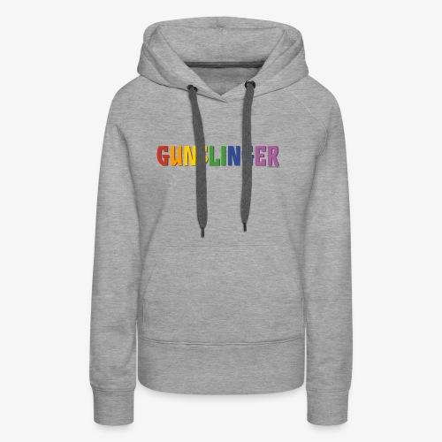 Gunslinger Pride (Rainbow) - Women's Premium Hoodie