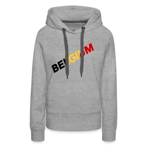 BELGIUM - Sweat-shirt à capuche Premium pour femmes