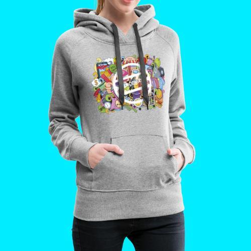 maglia logo doodle - Felpa con cappuccio premium da donna