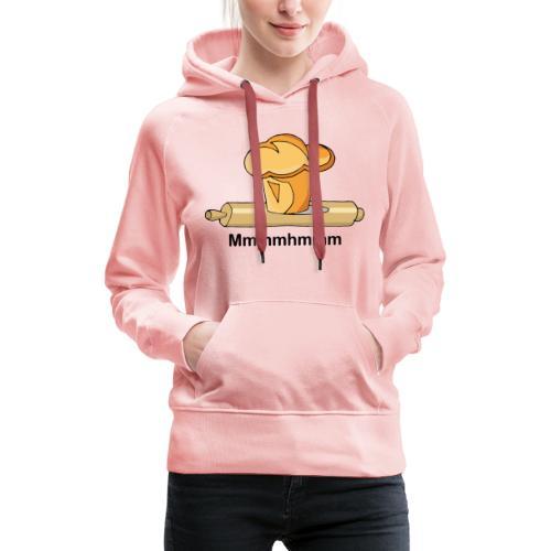 Brioche française et rouleau à patisserie - Sweat-shirt à capuche Premium pour femmes