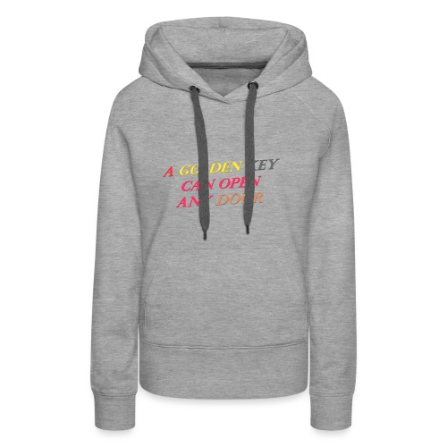 Say in English with 3D effect - Women's Premium Hoodie
