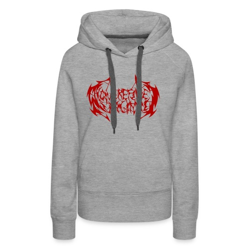ARV Logo rosso - Felpa con cappuccio premium da donna