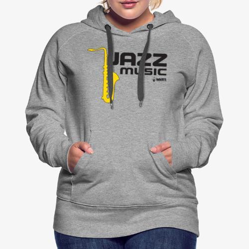 Jazz 002 - Sudadera con capucha premium para mujer