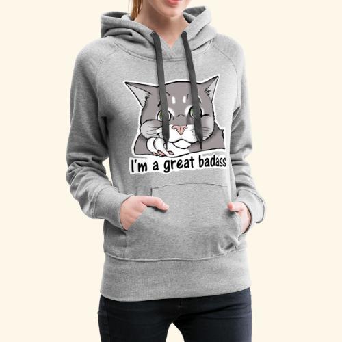 Nice Dogs CATS - Felpa con cappuccio premium da donna