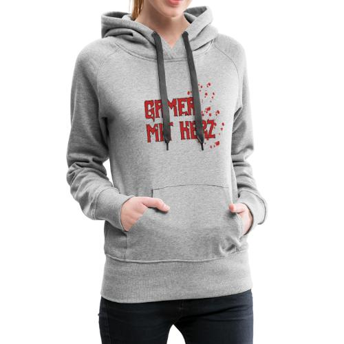 Gamer with heart - Women's Premium Hoodie