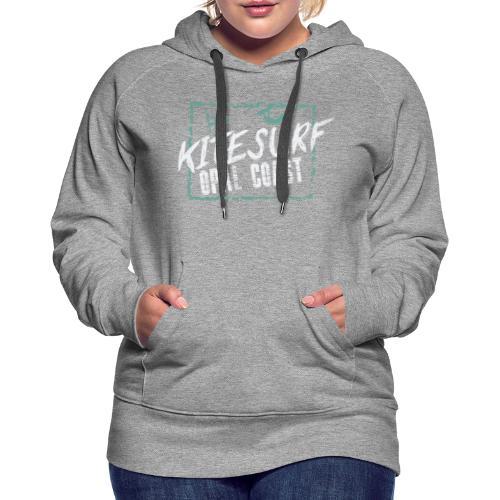 kiteSurf Opal Coast - Sweat-shirt à capuche Premium pour femmes