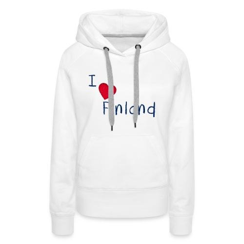 I Love Finland - Naisten premium-huppari