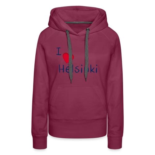 I Love Helsinki - Naisten premium-huppari