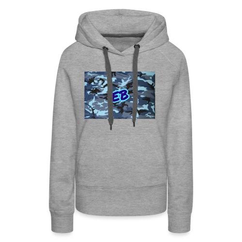 Ellibradyoffical blue camo - Women's Premium Hoodie