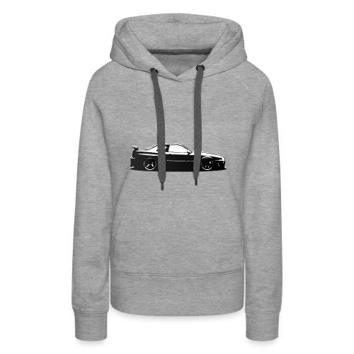 Minimalist Skyline - Sweat-shirt à capuche Premium pour femmes