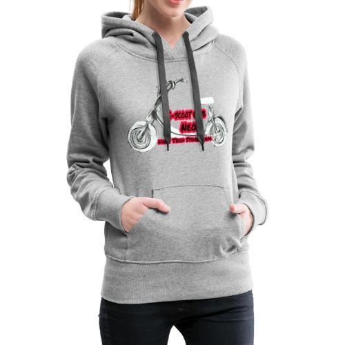 Neorider Scooter Club - Sweat-shirt à capuche Premium pour femmes