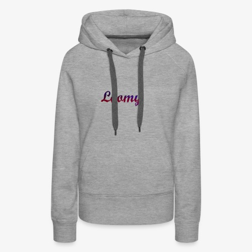 Loomy_Text_Red_And_Blue - Women's Premium Hoodie