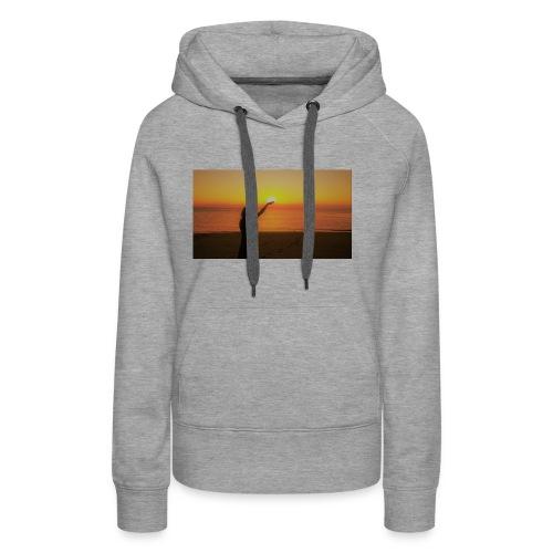 femme coucher de soleil - Sweat-shirt à capuche Premium pour femmes